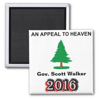 Gov. Scott Walker 2016 - An Appeal To Heaven Magnet