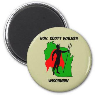 Gov Scott Walker 2 Inch Round Magnet