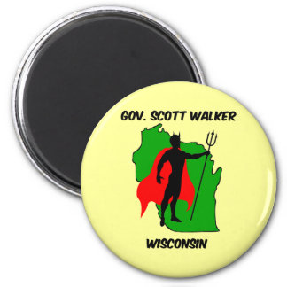 Gov Scott Walker 2 Inch Round Magnet