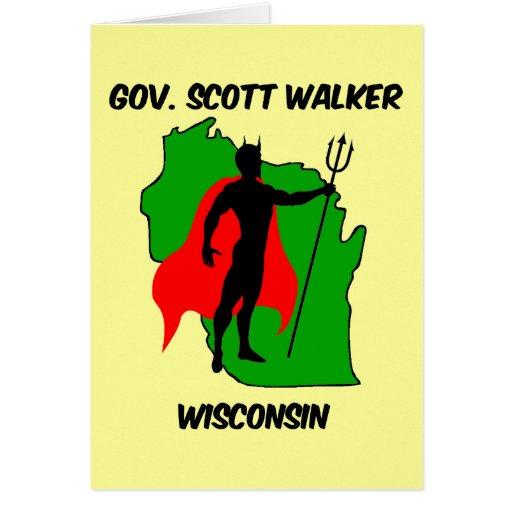 Gov Scott Walker Card