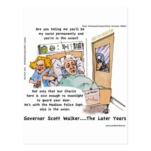 Gov Scott Walker Funny Satirical Gifts Tees Etc Postcard