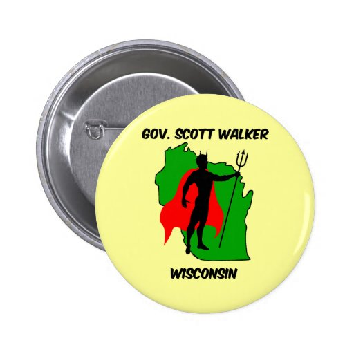 Gov Scott Walker Pinback Buttons