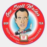 Gov. Scott Walker Round Stickers