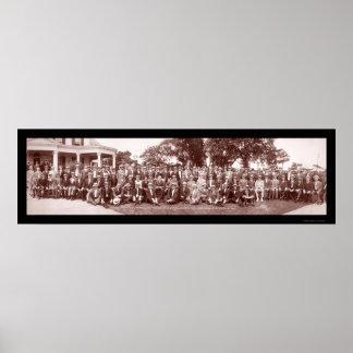 Gov Wilson Sea Girt NJ Photo 1912 Poster