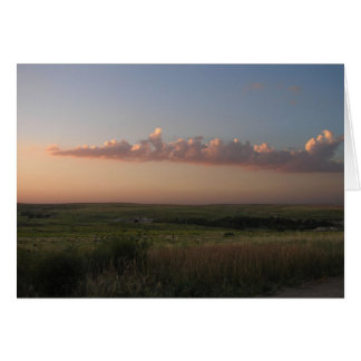 Gove County Sunset-1 Greeting Cards