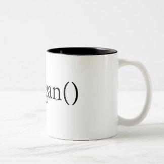 goVegan() mug for coders