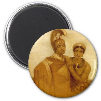 Govenor Boki of Oahu and his Wife Liliha Magnet