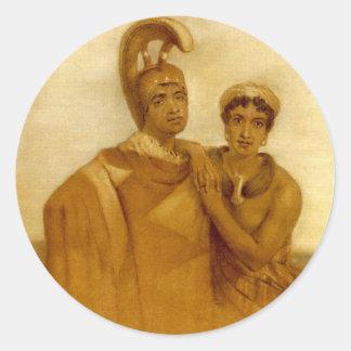 Govenor Boki of Oahu and his Wife Liliha Stickers