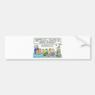goverment closed economics class bumper sticker