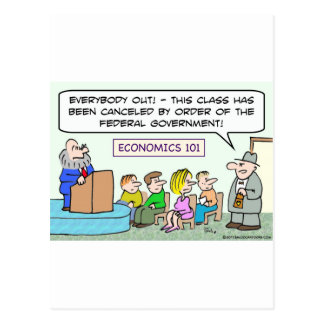 goverment closed economics class postcard