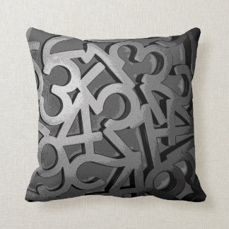 Governed By Numbers Throw Pillow