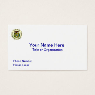Government Accountability Office Business Card