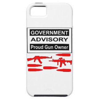 Government Advisory Proud Gun Owner iPhone 5 Cases