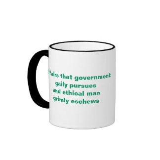 Government and Ethical Man Ringer Mug