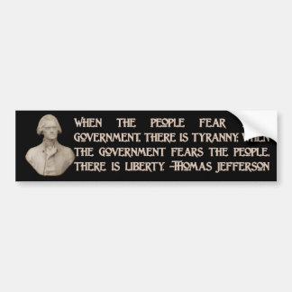 Government and the People Car Bumper Sticker