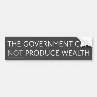 Government And Wealth Bumper Stick Bumper Sticker