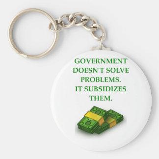 GOVERNMENT BASIC ROUND BUTTON KEYCHAIN
