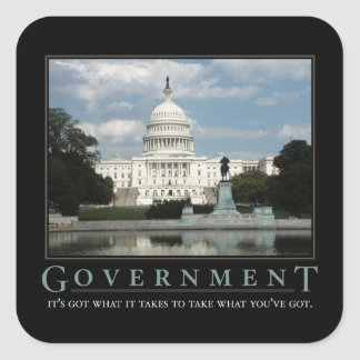 Government Demotivational Sticker Set