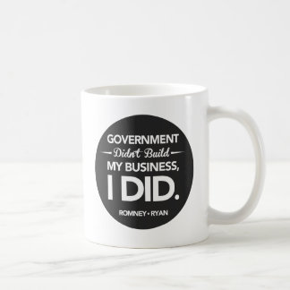Government Didn't Build My Business Black Button Coffee Mug