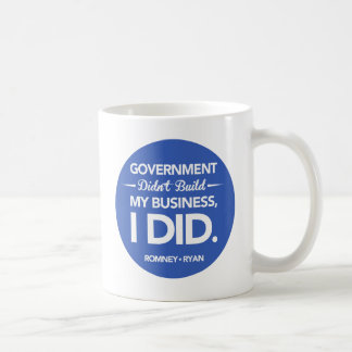 Government Didn't Build My Business Button (Blue) Coffee Mug