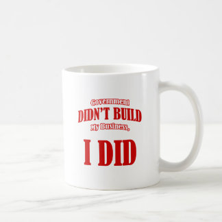 Government Didn't Build My Business Coffee Mug