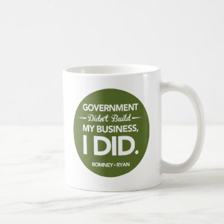 Government Didn't Build My Business Round (Green) Coffee Mug