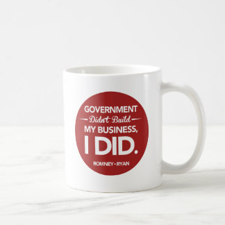 Government Didn't Build My Business Round (Red) Coffee Mug