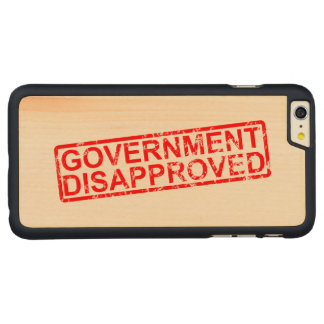 Government disapproved 2 carved® maple iPhone 6 plus slim case