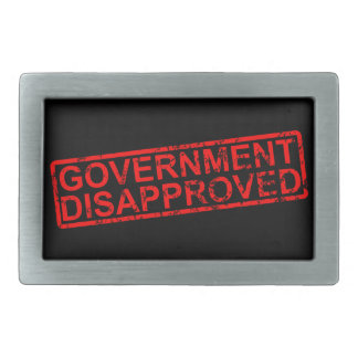 government disapproved belt buckle
