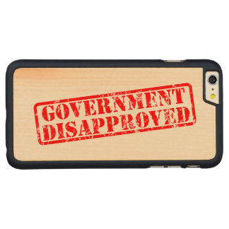 Government disapproved carved® maple iPhone 6 plus case