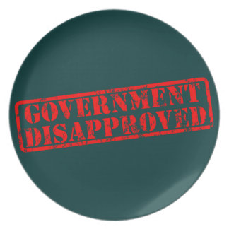 government-disapproved plate