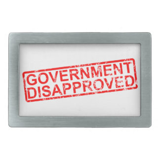 government disapproved rectangular belt buckle