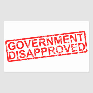 government disapproved rectangular sticker