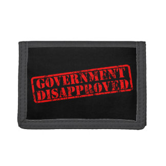 government-disapproved tri-fold wallets