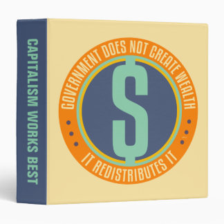 Government Does Not Create Wealth 3 Ring Binder