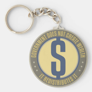 Government Does Not Create Wealth Basic Round Button Keychain