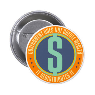 Government Does Not Create Wealth Pinback Button