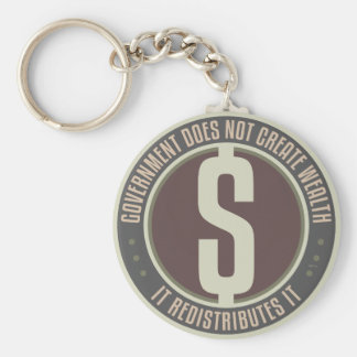 Government Does Not Create Wealth Keychain
