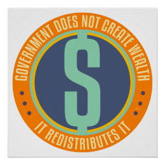 Government Does Not Create Wealth Posters