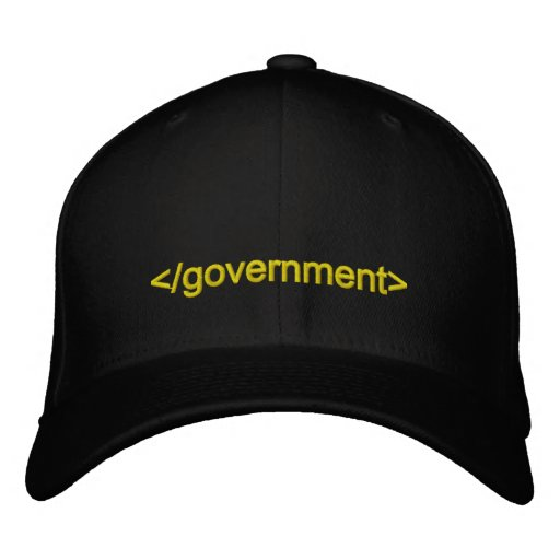 Government End Tag Embroidered Baseball Cap