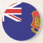 Government Ensign Of Gibraltar, United Kingdom Drink Coasters