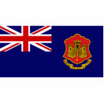 Government Ensign Of Gibraltar, United Kingdom Cut Outs