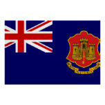 Government Ensign Of Gibraltar, United Kingdom Poster