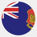 Government Ensign Of Gibraltar, United Kingdom Sticker