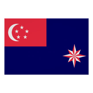 Government Ensign Of Singapore, Sierra Leone Poster