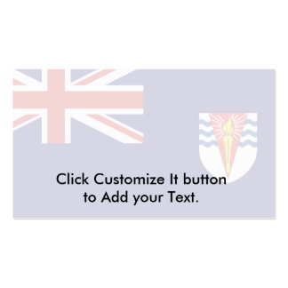Government Ensign Of The British Antarctic Territo Double-Sided Standard Business Cards (Pack Of 100)