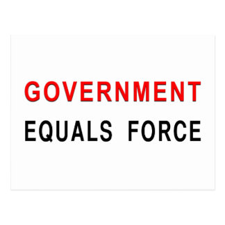 Government Equals Force Postcard
