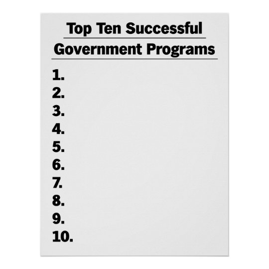 Government Failure Poster