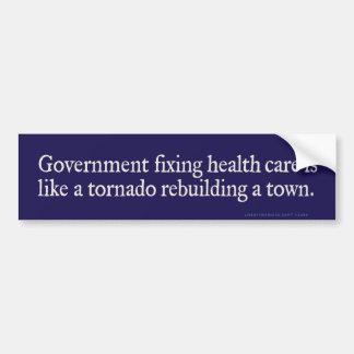 Government Fixing Health Care Bumper Sticker Car Bumper Sticker