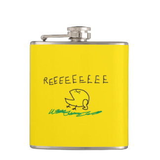 Government get out REE SNEKRIGHT Gadsden Flag Flask